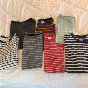 Bundle of 7 men's t shirts mostly J Crew